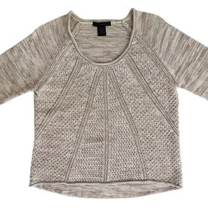 Calvin Klein Honeycomb Cable Knit Sweater XL Marl